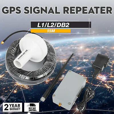GPS Signal Repeater Forwarder Transmitter Amplifier Antenna L1 DB2 15 Meters