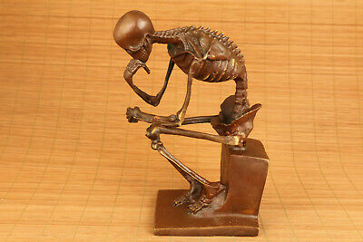 Chinese copper skull sage statue figure collectable