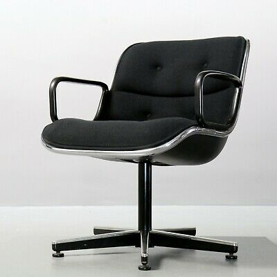 Executive Chair von Charles Pollock für Knoll International Schwarz Sessel Black