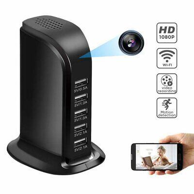 Mini WIFI 1080P Hidden Spy Camera Wall Charger Wireless Full HD USB Nanny Cam