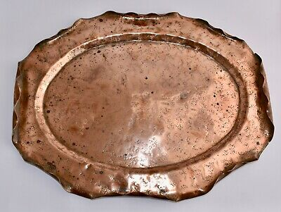 Rare Lge Arts & Crafts Townshend & Co ACANTHUS Copper Tray Rd228031 (49x37cm)
