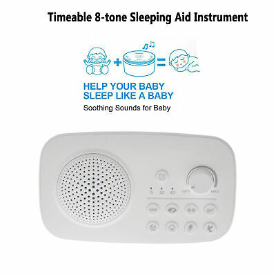 White Noise Machine Therapy Sleep Relajación Noche Sleeping Aid 8 Sonidos