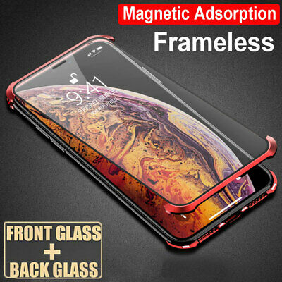 360° Full Protective Tempered Glass Magnetic Case Cover for iPhone XS Max X 7 8+