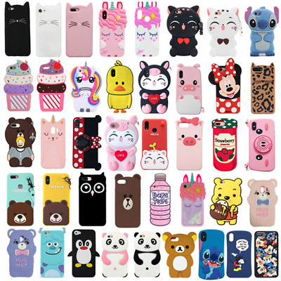 For Huawei P30 P30Pro P20Pro P20Lite Case Cover 3D Cute Cartoon Animal Silicone