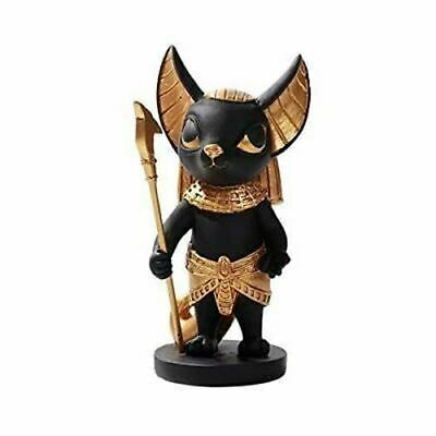 "Pacific Giftware Resin Ancient Egyptian Anubis Dog Mini Black Gold Statue 5.5""H"