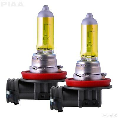 PIAA 22-13411 H11 Solar Bulb Replacement in Yellow Fits 16-17 Ford/Mazda - 2 pc