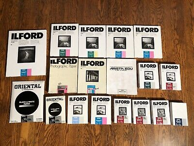 ILFORD MULTIGRADE IV RC LOT B&W negative paper Darkroom Photo Matte Glossy VC FB