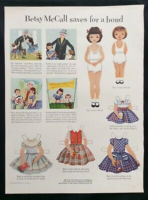 Betsy McCall Mag. Paper Dolls, betsy mccall Saves for a Bond, Aug. 1953