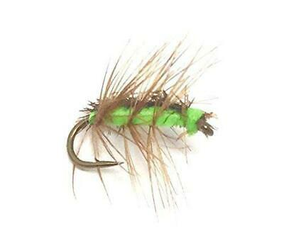 RED Size 14 Lot of 12 F718 Crackleback Dry Fly