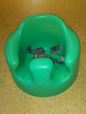 Bumbo Baby Floor Seat Green Turquoise With Safety Straps.