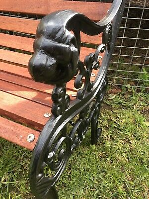 Cast iron bench lions head antique bench RARE!  Park bench