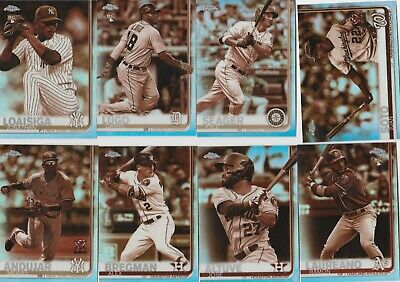 2019 Topps Chrome Baseball Sepia Insert Retail Only U-Pick Complete Your Set