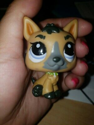 Littlest Pet Shop LPS Tan Black German Shepherd #3562 Authentic