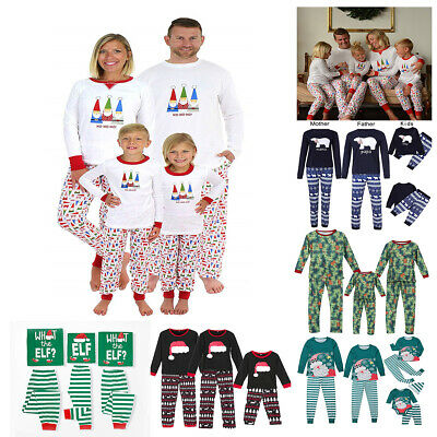 XMAS PJs Family Matching Adult Womens Kids Christmas Nightwear Pyjamas Pajamas