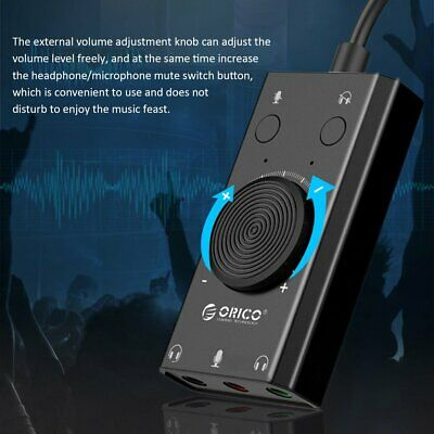 USB External Sound Card Microphone Earphone Two-in-One With 3-Port Output BH