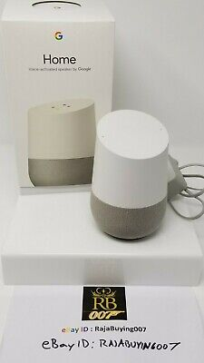 Google Home Smart Assistant Activated Smart Speaker - White Slate