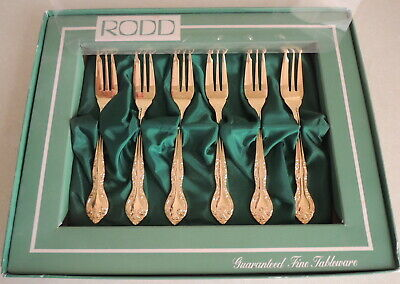 New Rodd 24ct Gold Plated Cake Forks