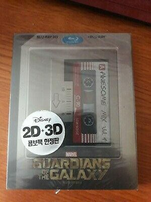 Guardians Of The Galaxy 3D/2D Blu Ray Steelbook - New Sealed - Marvel - Korean