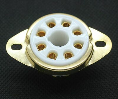 4pcs TUBE SOCKET 8 Pin Ceramic - Chassis Mount - Gold Plated