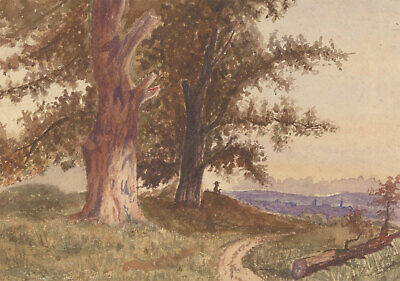 Double Sided Late 19th Century Watercolour - English Landscapes