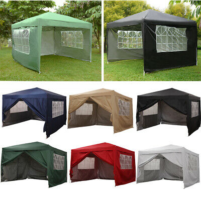 Waterproof Outdoor 3x3m Pop Up Gazebo Marquee Garden Awning Party Tent Canopy UK