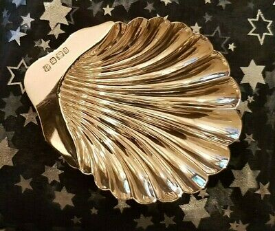 Solid silver Shell Shaped Pin Dish - Outstanding condition