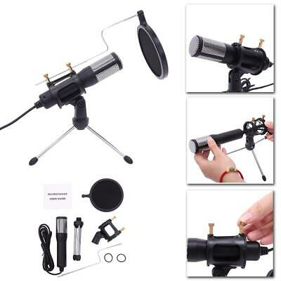 Condenser USB Microphone Studio Recording for Game Chat with Tripod Stand Mount