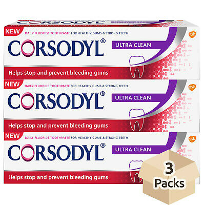 Corsodyl Ultra Clean Toothpaste 75ml - Pack of 3