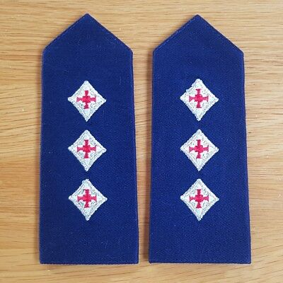 Old and Obsolete Queensland Ambulance Shoulder Rank Pair - QAS - Service