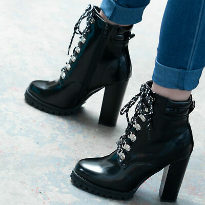 a70506ea132 SPYLOVEBUY ROCK IT Lace Up Block Heel Ankle Boots Shoes - $38.82 ...