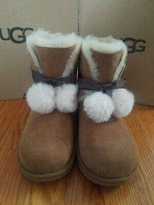 21bd779e999 NIB UGG KIDS Gita Metallic Leather Sheepskin Boots in Silver ...