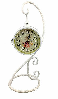 Table Clock Nostalgia Antique Vintage Floor Mantel Design 40 cm Double-Sided
