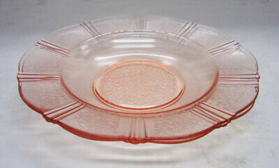 2 American Sweetheart Pink Flat Soup Bowls - MacBeth-Evans Depression Glass