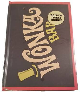 """Willy """"Wonka Bar"""" Journal With A Golden Ticket - FREE SHIPPING"""