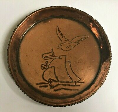Vintage Cornish Arts & Crafts Copper Pin Dish By Charles Eustace c.1940's