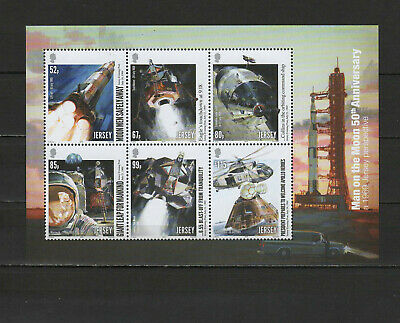 Space Apollo 11 Moon Landing 50th anniversary 2019 Jersey sheetlet MNH