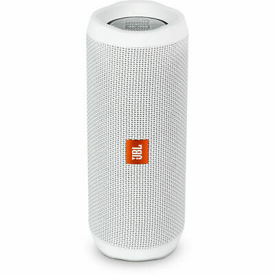 JBL Flip 4 Waterproof Bluetooth Wireless Portable Stereo Speaker - White