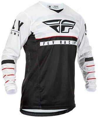 2020 Fly Racing Kinetic K120 Motocross MX Race Jersey Black White Red Adult