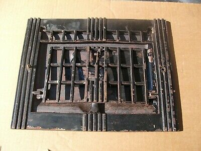 "Heat Air Grate Wall Register 9""x12"" Wall Open VINTAGE- Works! ART DECO"