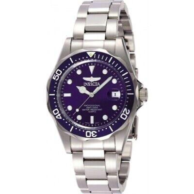 Invicta 9204 Pro Diver Blue Sunray Dial Silver-Tone Stainless Steel Mens Watch