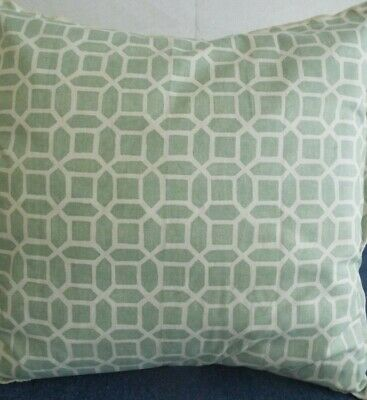 24 inch EXTRA LARGE GIANT CUSHION GREEN AND IVORY DESIGN