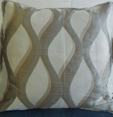 24 inch EXTRA LARGE GIANT CUSHION SHADES OF BEIGE AND COFFEE