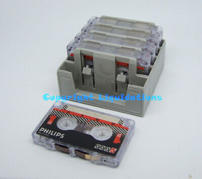 Philips LFH 0005 Mini Cassettes 30 Minutes [Pack of 5 Used Cassettes] - Erased