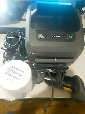 ZEBRA ZP450 THERMAL Label Barcode Printer Adjustable Arm