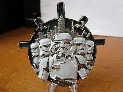 NYPD GVSD Gun Violence Suppression Div Star Wars Stormtroopers Challenge Coin.