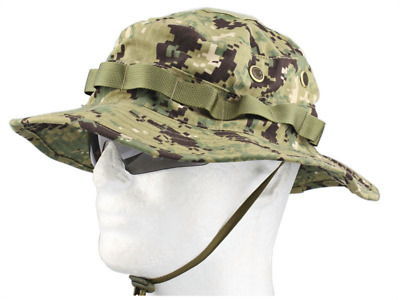 AOR2 Digital Camo Boonie Hat Navy Seal Jungle Sun Cap Military 1 Size Fits All