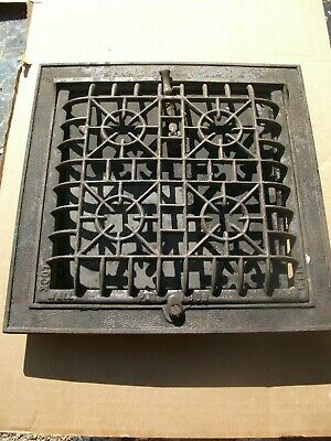 Heat Air Grate Wall Register 10x10 approx.wall opening LOCK WELL Brand complete
