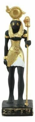 "Polyresin Egyptian God Of The Sky And War Horus Dollhouse Mini Statue 3.25""H"