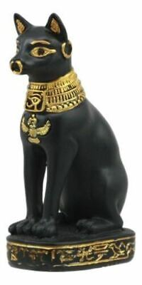 "Polyresin Egyptian God Protection Home Bastet Cat Dollhouse Mini Statue 3.25""H"