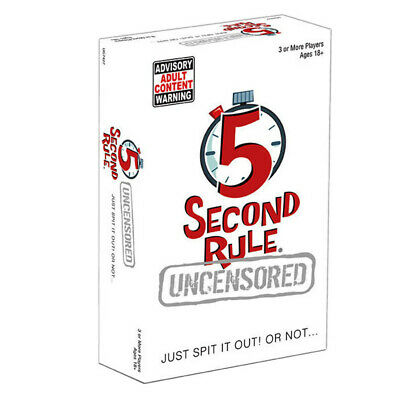 5 Second Rule Uncensored Card Game NEW